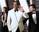 """FILE - In this Feb. 23, 2015 file photo, Jay Z arrives at the 2015 Vanity Fair Oscar Party in Beverly Hills, Calif. The rapper says he believes he has a valid license to use the Arabic music featured on his 1999 hit """"Big Pimpin'"""" that is now the subject of a copyright infringement trial. Jay Z told a federal jury Wednesday, Oct. 14, 2015, that he has never asked music producer Timbaland about the origins of the music, which includes elements of the 1957 Egyptian hit song """"Khosara Khosara.""""  (Photo by Evan Agostini/Invision/AP, File)"""