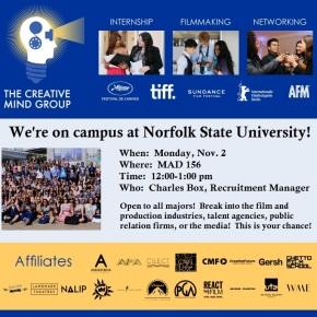 Creative Mind Group on Norfolk State campus Monday, Nov.2
