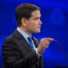 Rubio downplays Bush rivalry, aims at Clinton after debate