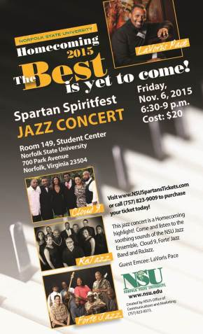Jazz Concert set for NSU Homecoming festivities