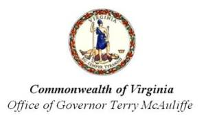 Commonwealth of Virginia, Office of Governor Terry McAuliffe
