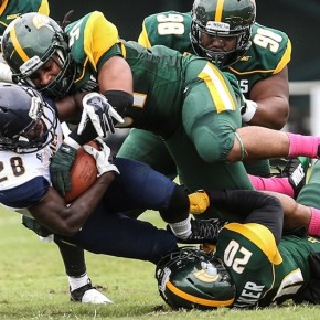 Cohen, Aggies Pull Away for 27-3 Win overNSU