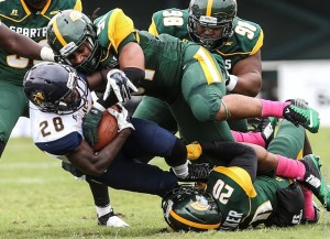 NORFOLK, Va. – North Carolina A&T running back Tarik Cohen rushed for 152 yards and a touchdown and also threw a scoring pass, helping the visiting Aggies pull away for a 27-3 win over Norfolk State on Saturday afternoon at Dick Price Stadium.