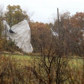 State police using shotguns to deflate wayward blimp