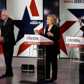 Clinton on donors, Sanders on wageinequality
