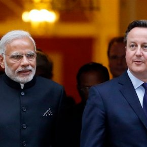 Pomp, protests greet India's premier Modi on lavish UK visit