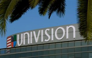 FILE - This Aug. 5, 2003, file photo, shows the exterior of Univision's Los Angeles headquarters. Univision is the latest media company to sell its wares straight to watchers online as it prepares for an initial public offering, which the company announced in July 2015. (AP Photo/Reed Saxon, File)