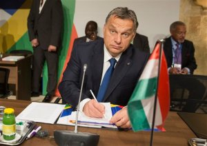 Hungary's Prime Minister Viktor Orban attends the start of a second working session of a summit on migration between European and African leaders, in Valletta, Malta, Thursday, Nov. 12, 2015. (AP Photo/Alessandra Tarantino)