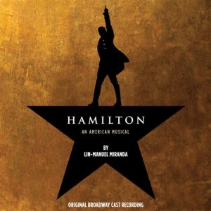 "This CD cover image released by Atlantic Records shows the Broadway cast album for ""Hamilton: An American Musical."" Atlantic Records said last week that ""Hamilton"" has so far sold over 54,000 albums, had more than 16 million songs streamed and become the highest debuting cast recording on the Billboard Top 200 in over 50 years _ not typical numbers for Broadway. (Atlantic Records via AP)"