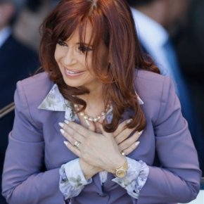Outgoing Argentine president says she's not going away