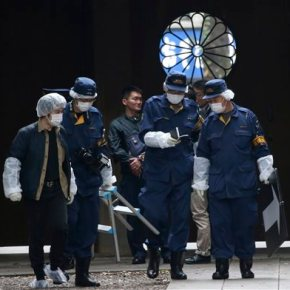 Blast at Japan's controversial war shrine injures noone