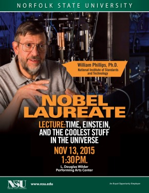 Physics Nobel Laureate to Speak at NSU about  'Time, Einstein and the Coolest Stuff in theUniverse'