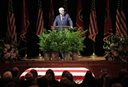Sen. John McCain, R-Ariz., speaks during a service for Fred Thompson, a former United States senator, actor and Republican presidential candidate, Friday, Nov. 6, 2015, in Nashville, Tenn. Thompson died Nov. 1 in Nashville. He was 73. (AP Photo/Mark Humphrey)