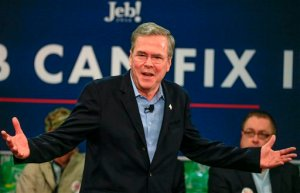 Republican presidential candidate, former Florida Gov. Jeb Bush, speaks during a campaign event at the Coca Cola bottling plant in Atlantic, Iowa, Wednesday, Nov. 11, 2015. (AP Photo/Nati Harnik)