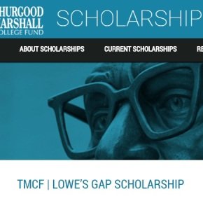 Thurgood Marshall College Fund GAP Scholarship available to graduating seniors