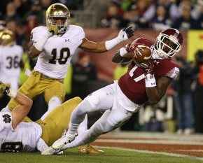 No. 9 Notre Dame survives No. 21 Temple, 24-20, with late TD