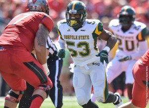 King named to CFPA FCS linebacker watch list  (photo courtesy of NSUSpartans.com)
