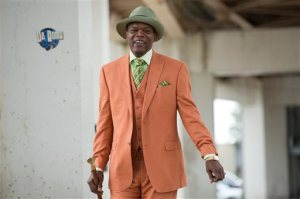 "This photo provided by Roadside Attractions and Amazon Studios shows Samuel L. Jackson as Dolmedes in Spike Lee's film, ""Chi-Raq."" The movie opens in U.S. theaters on Dec. 4, 2015.  (Parrish Lewis/Roadside Attractions/Amazon Studios via AP)"