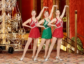Among the Rockettes this year are 3 sisters, kicking high