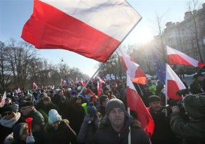 Poles fearing attack on democracy by government join protest