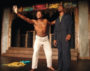 """""""The Brothers Size"""" theatrical production, presented by the NSU Theatre Company Feb. 25-27 at 7 p.m. in the Brown Hall Theatre, is one of many Norfolk State University Black History signature events scheduled for the month of February. (Photo from Norfolk State University)"""