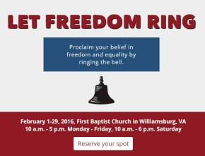 """""""Let Freedom Ring Challenge"""" tolls for Black History Month inWilliamsburg"""