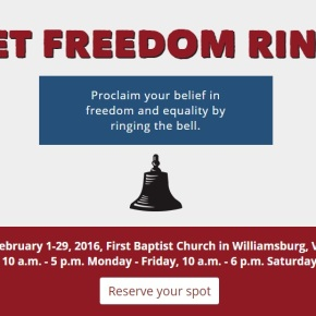 """Let Freedom Ring Challenge"" tolls for Black History Month in Williamsburg"