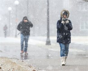 Heavy snow, strong winds whip through Great Lakesarea