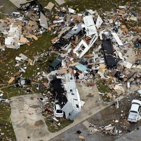 Tornadoes ravage South, threat remains for more twisters