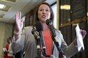 FILE - In this file photo, Rep. Martha Roby, R-Ala., speaks to the reporters on Capitol Hill in Washington. Next month, GOP House members in a crescent from Texas to North Carolina to Illinois face the first congressional primaries in this incumbent-bashing, anti-establishment year of Donald Trump and Ted Cruz. Most are expected to survive. But political operatives say a few are in contests worth watching for possible upsets.   (AP Photo/Manuel Balce Ceneta, File)