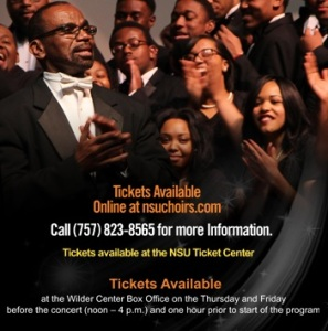 Norfolk State University, Hampton University, Howard University and Elizabeth City State University are joining together on the campus of NSU for an HBCU choral festival on February 28.