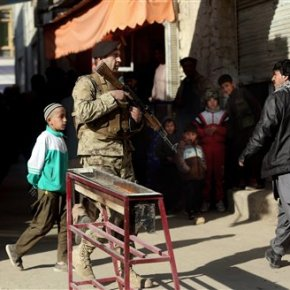 Suicide bombing in Afghan capital kills at least9