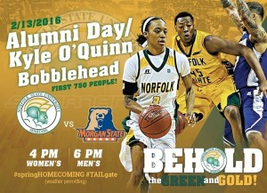 The Norfolk State athletics department will host the Spartan Basketball Fan Fest in conjunction with Alumni Day on Saturday, Feb. 13 outside Joseph Echols Hall prior to the NSU-Morgan State basketball doubleheader.