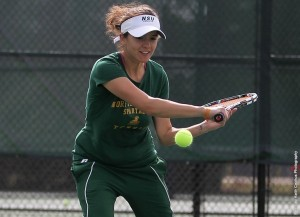 The Norfolk State women's tennis team picked up its first victory of the season late Sunday morning with a 9-0 win over Christopher Newport at the outdoor Eyre Tennis Courts on the CNU campus.