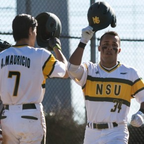 Spartans explode for 1st win of year in DH split withNJIT