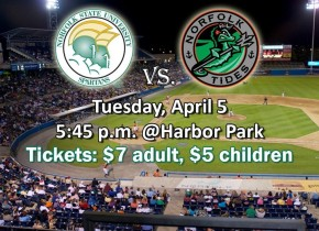 NSU baseball set to play Norfolk Tides on Tuesday, April 5