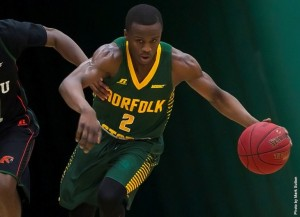 Norfolk State's last two-game, four-day MEAC road trip of the season will begin at Howard where the Spartan men's basketball team faces the Bison on Saturday, Feb 6 at 4 p.m. at Burr Gymnasium. Photo from NSUSpartans.com.