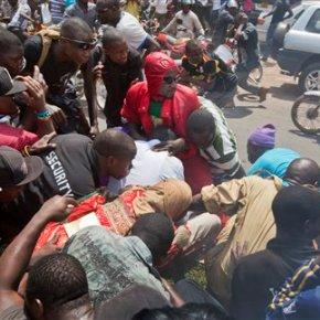 Ugandan police fire tear gas to break up oppositioncrowd
