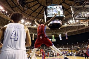 South Carolina State's Tashombe Riley attempts to block an inbounds pass by Hampton's Lawrence Cooks during the second half of an NCAA college basketball game in the championship of the Mid-Eastern Athletic Conference men's tournament in Norfolk, Va., Saturday, March 12, 2016. (AP Photo/Chet Strange)