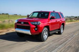 This undated photo provided by Toyota shows the 2016 Toyota 4Runner. Lower gasoline prices are helping fuel sales of 2016 Toyota 4Runner _ a rugged, reliable SUV for drivers who get away to the outdoors. (David Dewhurst/Toyota via AP)