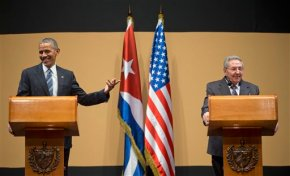 The Latest: Obama says he open to meeting with FidelCastro