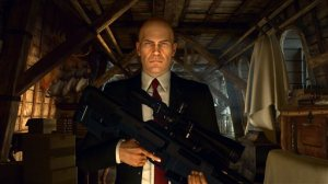 """This video game image released by Square Enix shows a scene from """"Hitman."""" (Square Enix via AP)"""