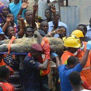 Building collapse on construction site kills 34 inNigeria