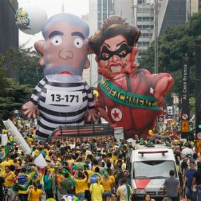 Big turnout for protests urging ouster of Brazil'spresident