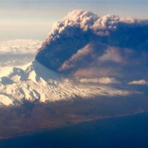 Ash coats village areas near erupting Alaska volcano