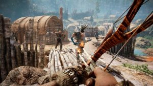 "This image provided by Ubisoft shows a Stone Age explorer battling a rival tribe in the video game, ""Far Cry Primal."" (Ubisoft via AP)"