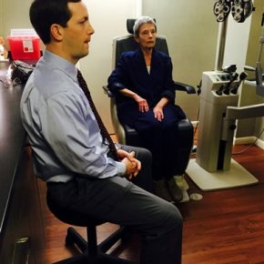 Eye patient sees huge improvement through tinytelescope