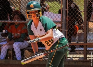 Junior Hannah Haustein hit a walk-off double in the bottom of the seventh to win game 1, and the Norfolk State softball team made it a doubleheader and series sweep of Coppin State with an 8-0 win in game 2 on Saturday, Mar 19, at the NSU Softball Field. Photo from NSUSpartans.com.