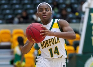 Brehanna Daniels scored a career-high 17 points to pace the Spartans