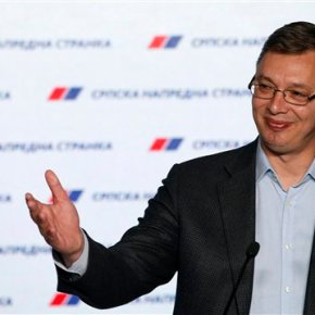 Pro-EU populists win landslide victory in Serbian election